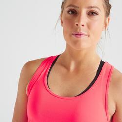 Fitness top 100 voor dames, koraal/roze