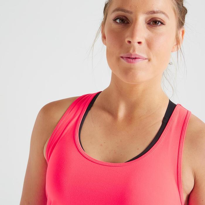 Topje voor cardiofitness dames My Top 100 roze