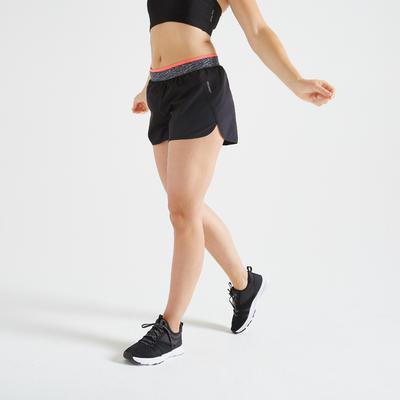 Short loose fitness cardio training mujer negro 100
