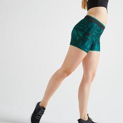 Sporthose kurz FST 100 Fitness Cardio Damen mit Print
