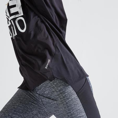T-shirt entraînement cardio femme noir 120