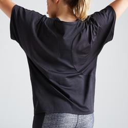 T-shirt voor cardiofitness dames 120 zwart