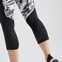 7/8-Leggings FLE 120 Fitness Cardio Damen schwarz