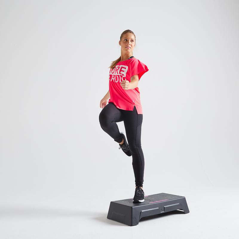 T-shirt fitness cardio training femme rose 120