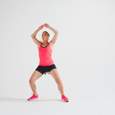 Camiseta De Tirantes Fitness Mujer My Top Rosa Coral