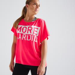 T-shirt fitness cardiotraining dames 120 roze