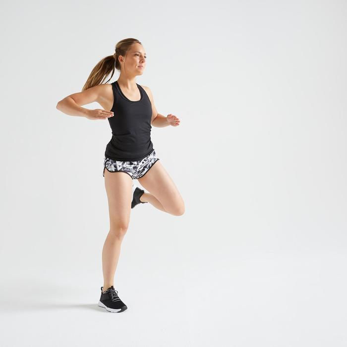 Short loose fitness cardio training femme imprimé graphique 100