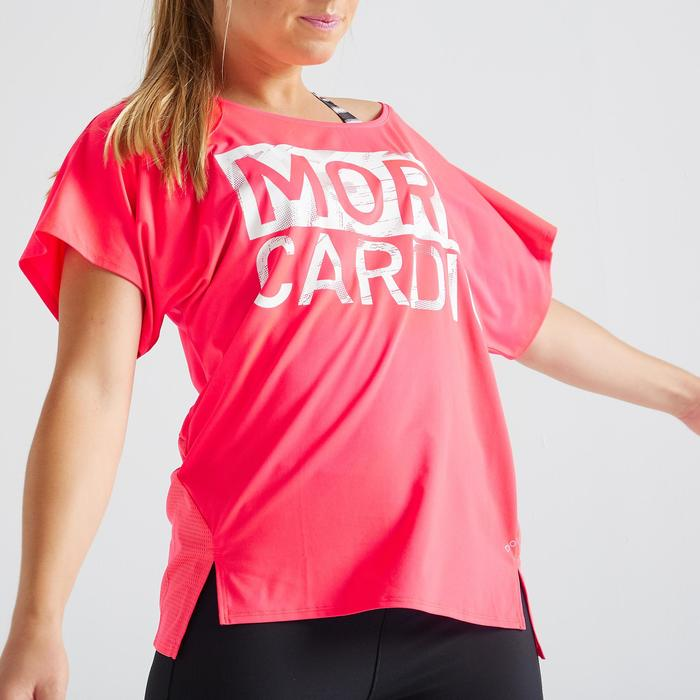 T-shirt fitness cardio training femme rose 120