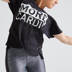 T-shirt fitness cardio training femme noir 120