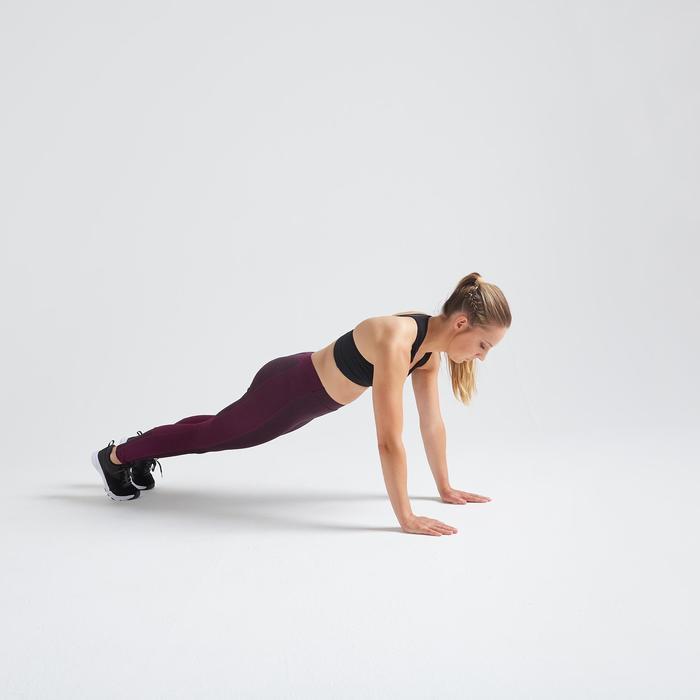 Fitness legging 120 voor dames, bordeaux
