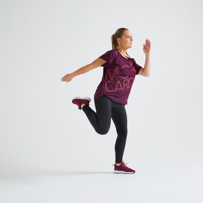 T-shirt fitness cardio training femme bordeaux 120