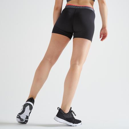 100 Women's Fitness Cardio Training Shorts - Black