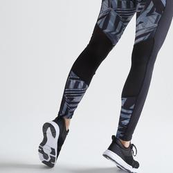 Legging fitness cardio training femme gris 120