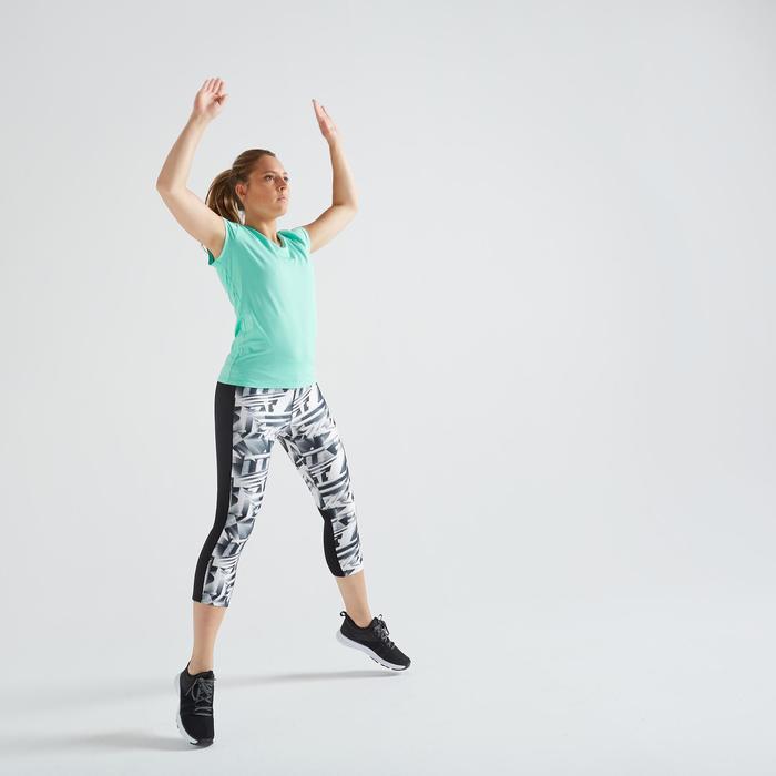 T-Shirt FTS 100 Fitness Cardio Damen türkis