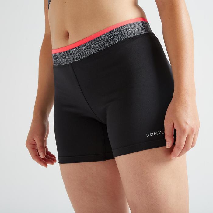 Sporthose kurz FST 100 Fitness Cardio Damen schwarz