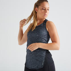Women's Stretchable Fitness Tank Top - Mottled Grey