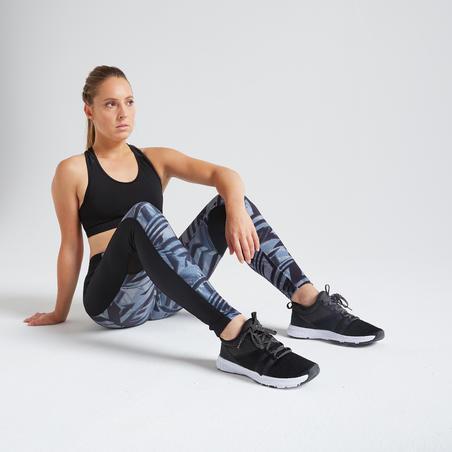 120 Women's Fitness Cardio Training Leggings - Grey