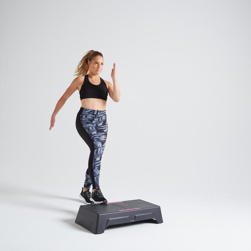 กางเกงเลกกิ้งผู้หญิงสำหรับใส่ออกกำลังกายแบบคาร์ดิโอรุ่น 120 (สีเทา)