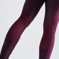 Legging fitness cardio training femme bordeaux 120