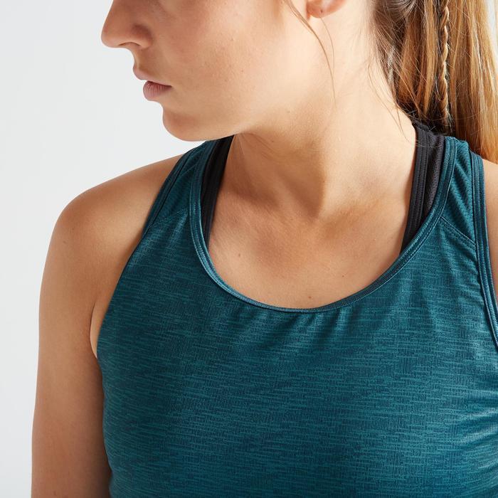 Topje voor cardiofitness dames 120 gemêleerd groen