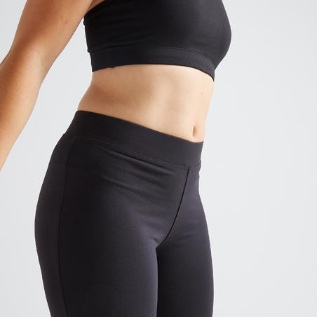 100 Cropped Bottom Latihan Fitness Kardio Wanita - Hitam