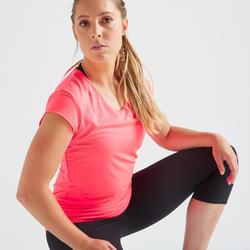 100 Women's Fitness Cardio Training T-Shirt - Pink