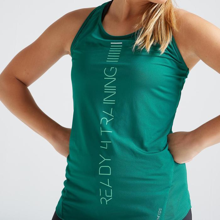 Topje voor cardiofitness dames 120 groen
