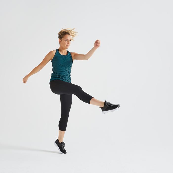 Legging 7/8 fitness cardio training femme noir 120