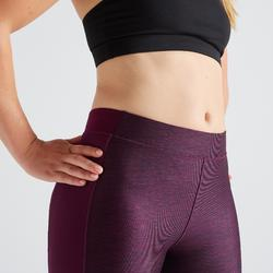 Legging voor cardiofitness dames 120 bordeaux