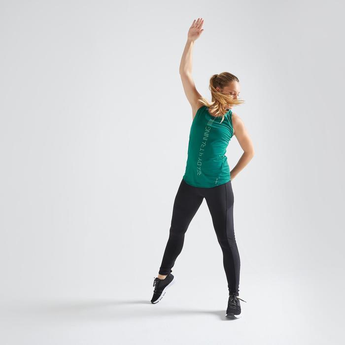 Débardeur fitness cardio training femme vert 120