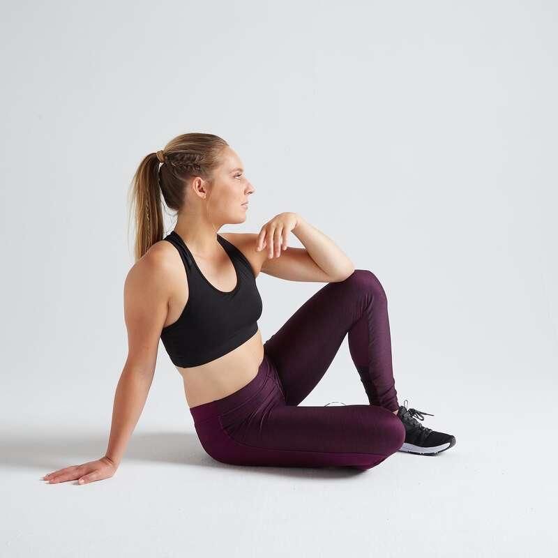 WOMAN FITNESS ENERGY APPAREL Fitness and Gym - FTI 120 Leggings - Burgundy DOMYOS - Gym Activewear