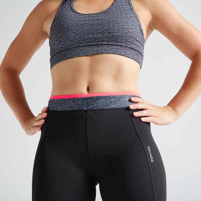 Legging 7/8 fitness cardio training femme noir 100