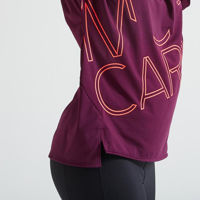 T-shirt fitness cardio training femme bordeaux 120