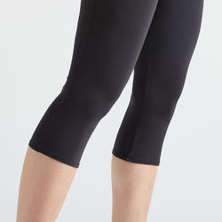 100 Women's Fitness Cardio Training Cropped Bottoms – Black