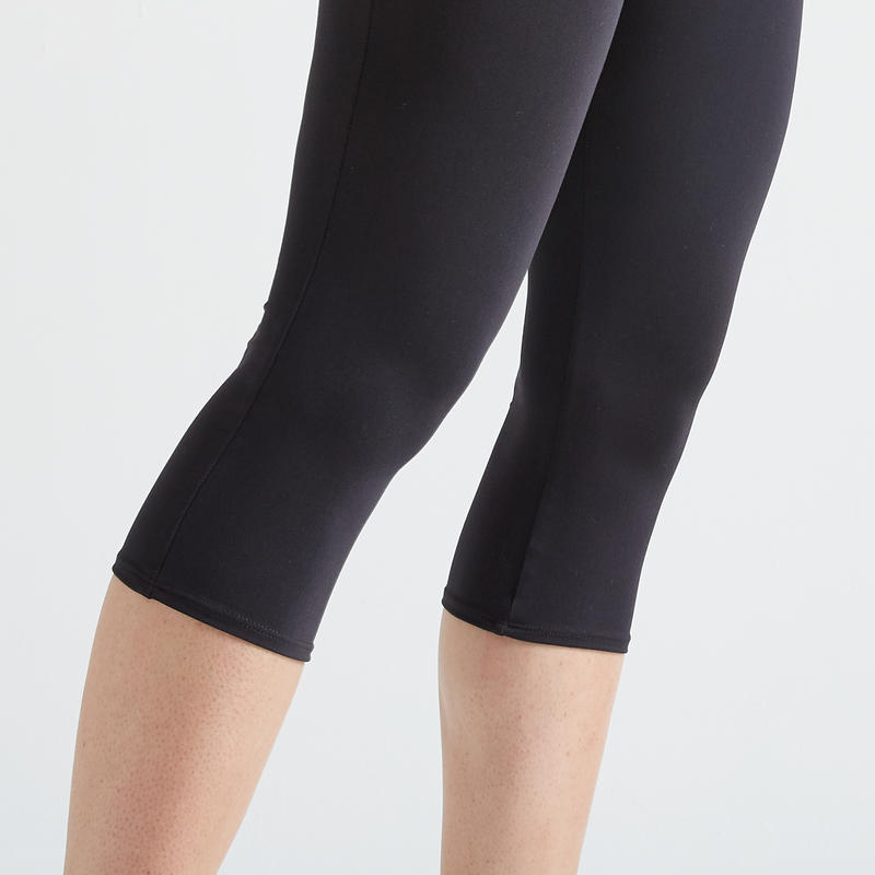 Fitness Cropped Bottoms - Black