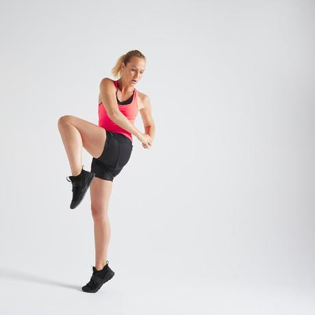 6d9c87b40c35b4 Short fitness cardio training femme noir 520