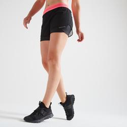 Sporthose kurz FST 520 Fitness Cardio Damen schwarz