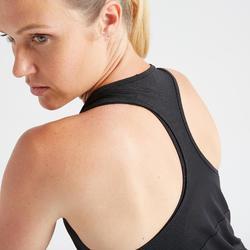 3-in-1 topje voor cardiofitness dames 520 zwart