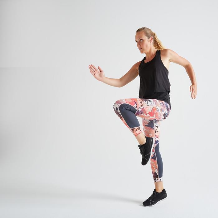 Débardeur 3 en 1 fitness cardio training femme noir 520