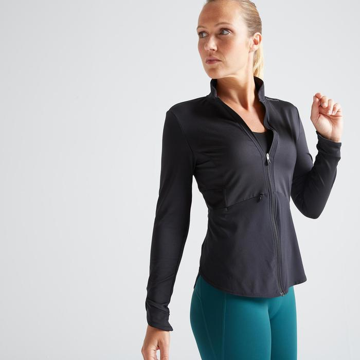 Vest fitness cardiotraining dames 500 zwart
