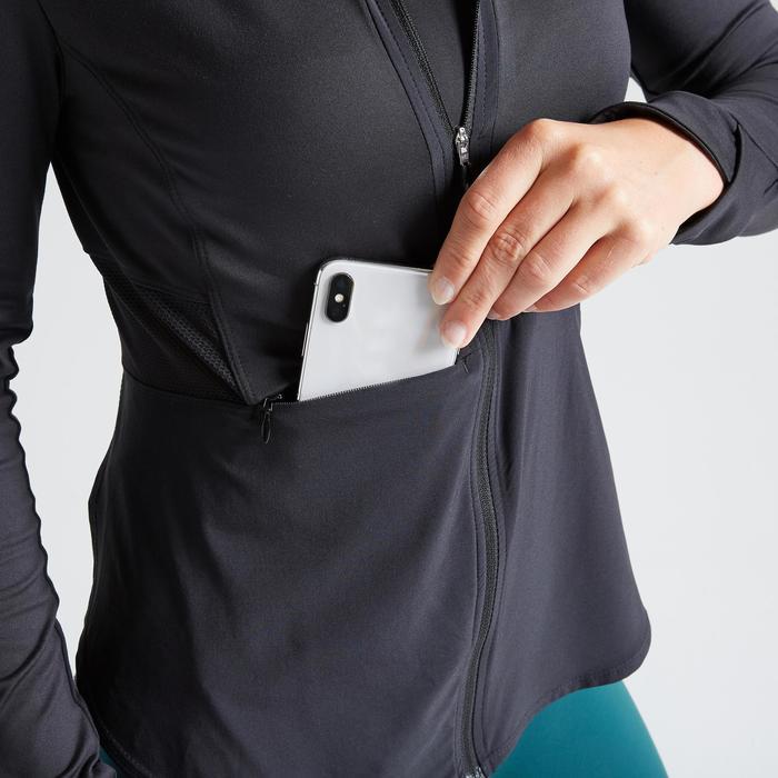 Trainingsjacke FJA 500 Fitness Cardio Damen schwarz