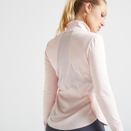 500 Women's Fitness Cardio Training Jacket - Pale Pink