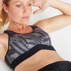 女款訓練/健身運動內衣500-印花款