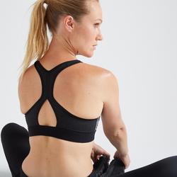 Sportbeha voor cardiofitness 500 grafische print