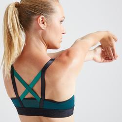 Sportbeha voor cardiofitness 520 groen