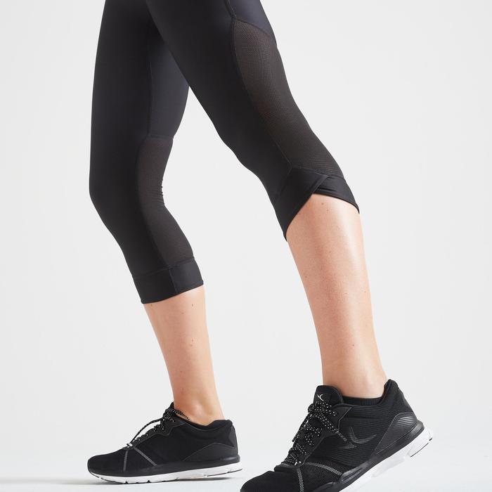 Legging 7/8 fitness cardio training femme noir 500