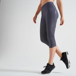 Fitness legging 7/8 500 voor dames, grijs
