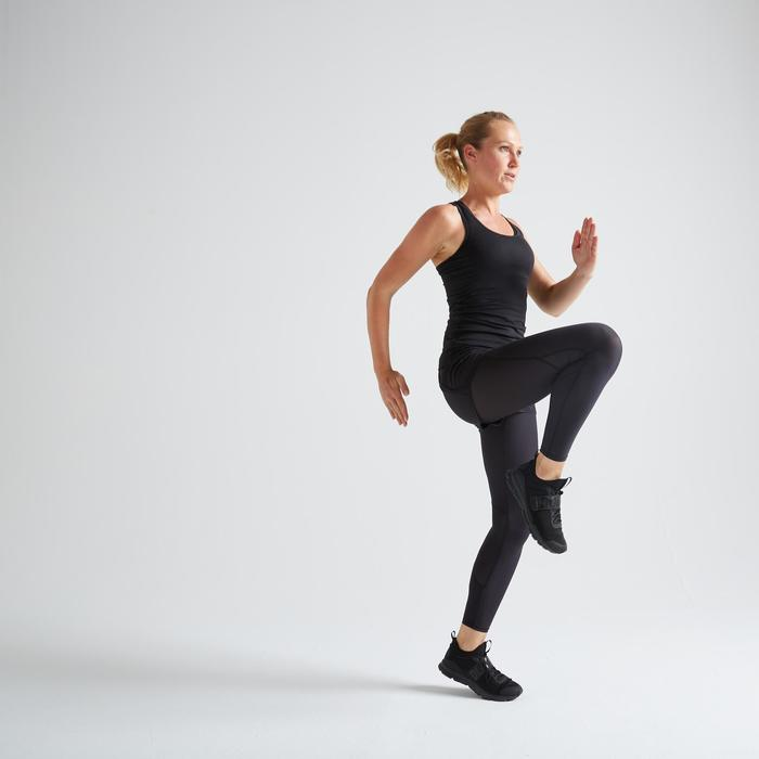 Legging-short fitness cardio trainig femme noir 500