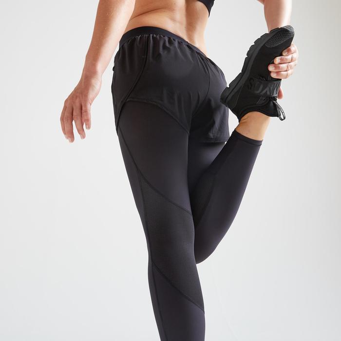 Leggings Shorts FSL 500 Fitness Cardio Damen schwarz