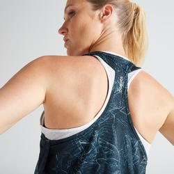 3-in-1 cardiofitness top 520 voor dames wit met print